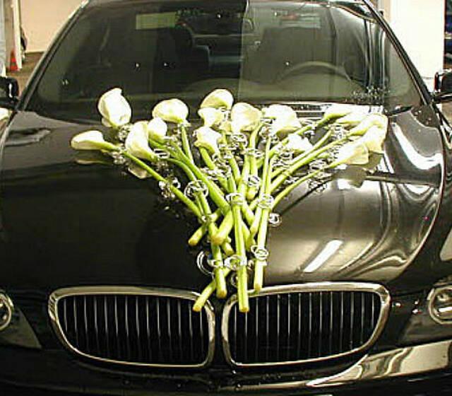 Beispiel: Autoschmuck, Foto: Blumenoase.