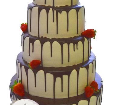 wedding cake fraise choco
