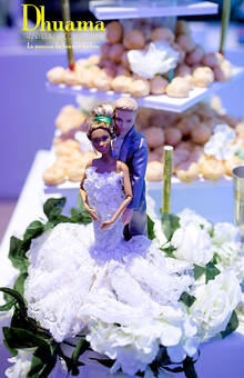 Figurines couples mixtes poupées Barbie: Dhuama traiteur africain