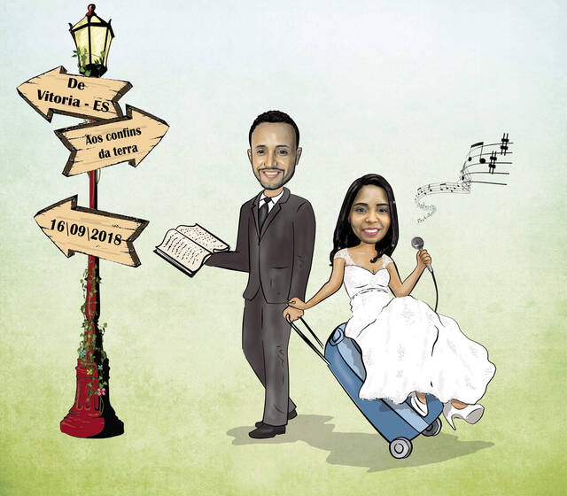 Vivart Atelie - Caricatura Noivos Casamento