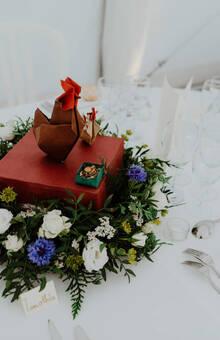 couronne et origami