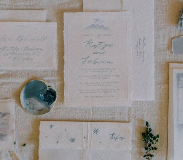 Einladungs-Set/Wedding invitation suite