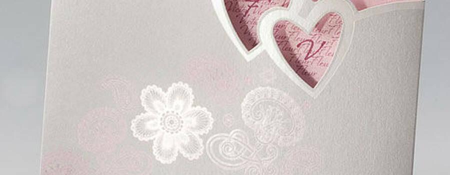 Beispiel: Hochzeitseinladung - Traum in Rosa, Foto: Whitestore.at.
