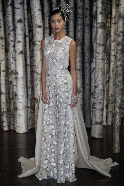 Suknia ślubna 2015 z kolekcji Naeem Khan  - New York Bridal Week