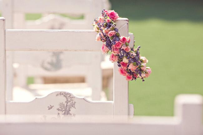 Свадебный венок для украшения стульев для гостей