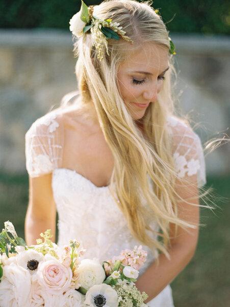 Peinados de novia con pelo suelto 2017.