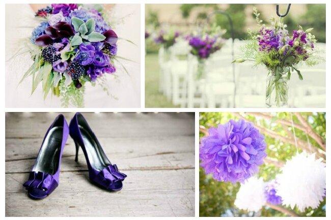 Фиолетовый цвет для вашей свадьбы