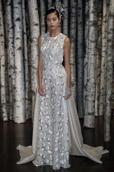 Свадебное платье с вышивкой от Naeem Khan 2015