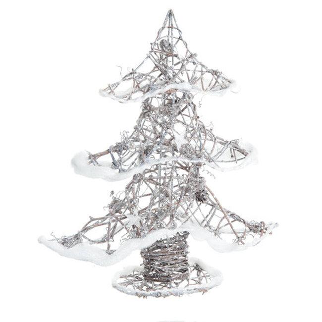 Adornos navide os imprescindibles por menos de 15 euros - Arbol navidad ratan ...