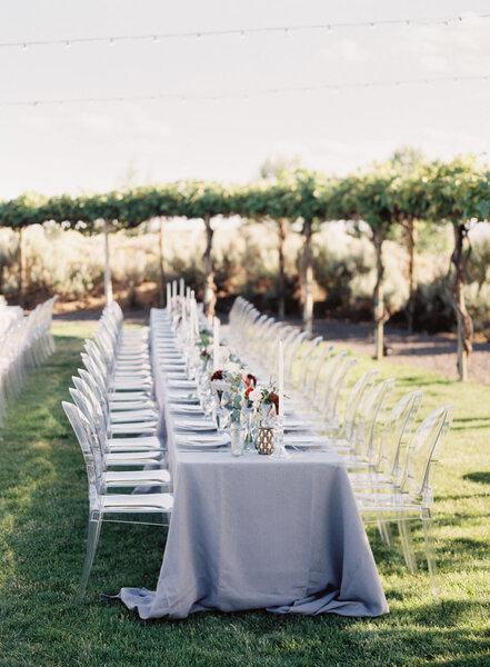 Decorazioni per un matrimonio all'aria aperta