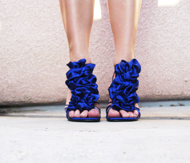Sapatos de diversos estilos e cores. Foto: via lovemargan.com