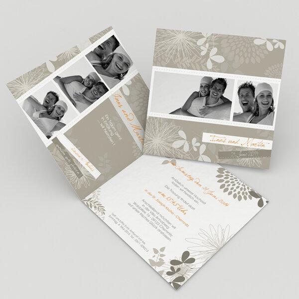 Einladungskarte Zur Hochzeit. Foto: Www.kreative Hochzeitseinladungen.com