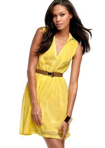 Vestido amarelo H&M