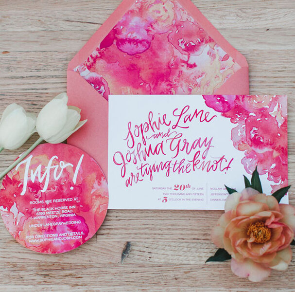 Floral spring invitaions.