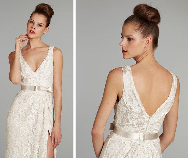 Peinado de novia con un chongo alto de moda en 2013