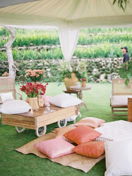 Alfombras y tapices para boda.