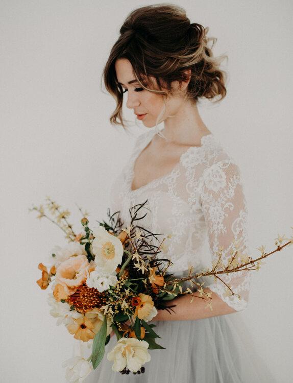 Acconciature da sposa raccolte