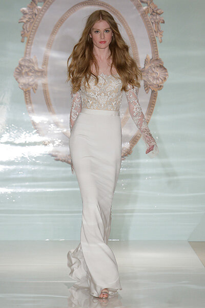 Reem Acra Spring 2015 Bridal Collection / New York Bridal Week. Foto: Getty.