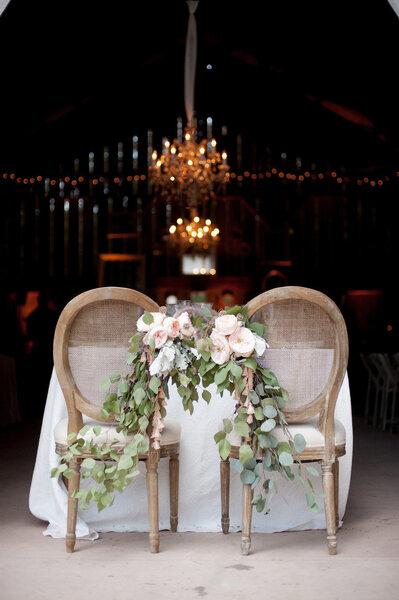 Romantische Stuhl Dekoration F R Die Hochzeit