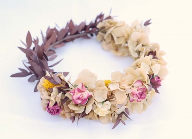 Crown with various types of florals