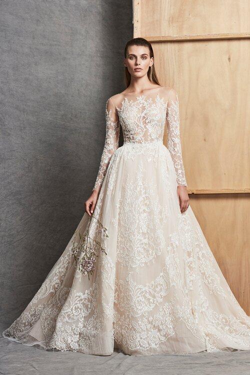 bca0b889ad00b Vestidos de novia manga larga boda civil – Vestidos baratos