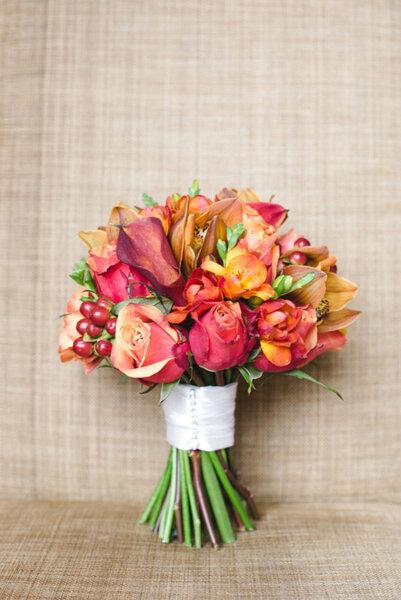 Ramo de novia con tulipanes.