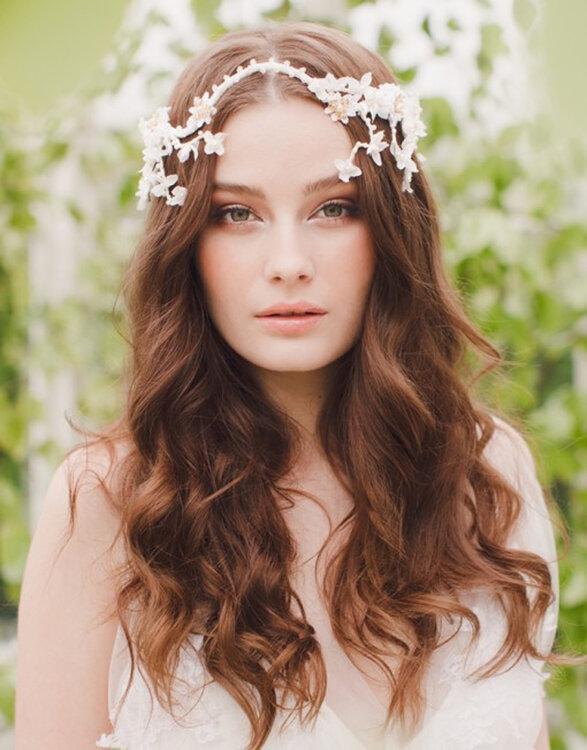 Peinados De Novia Con Pelo Rizado 2016 Descubre Todas Las - Peinados-novia-pelo-suelto-rizado