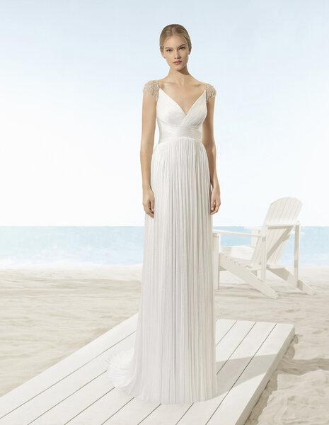 Los más románticos vestidos de novia corte imperio para que causes ...