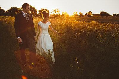 Wendy + Frankie en su boda intima en un campo de Uruguay