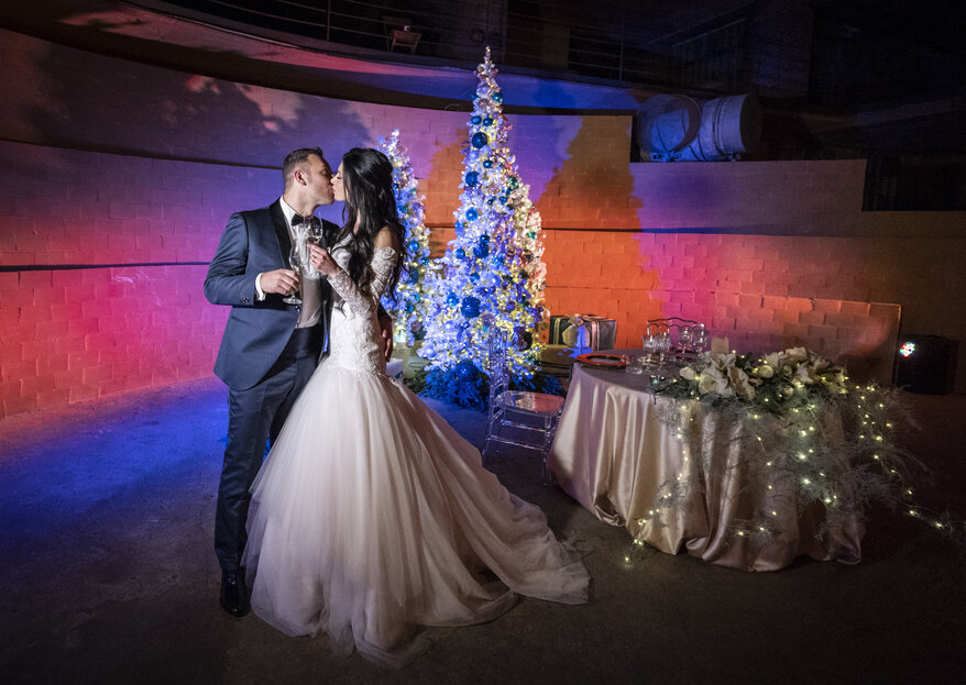 Elisa and Luigi: A life-long promise during the magic of Christmas with the help of Vis a Vis Weddevent