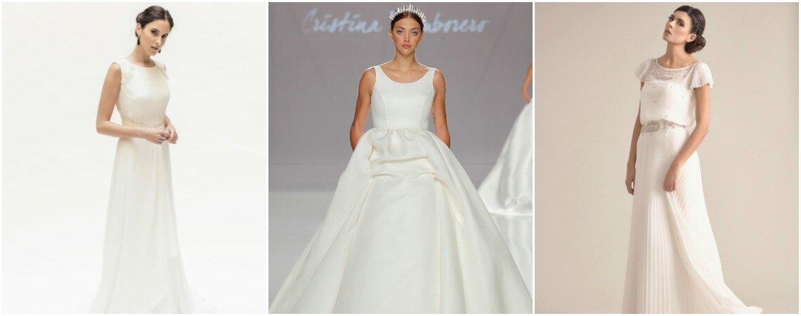 Suknie ślubne z okrągłym dekoltem! Podkreśl swoją urodę tymi olśniewającymi sukniami.