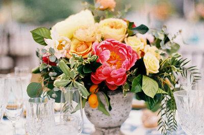 Los más bellos centros de mesa para bodas vistos en Pinterest