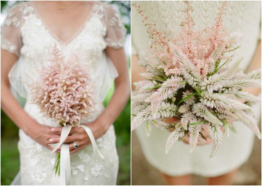 Ramos de novia con astilbe: una flor romántica y natural que causa sensación