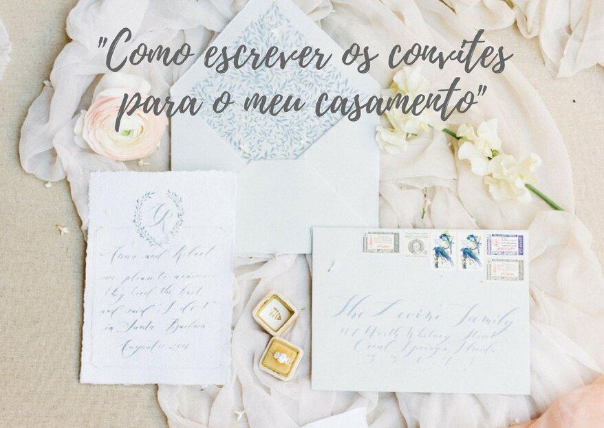 Como escrever os convites para o meu casamento