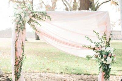 Matrimonios en blanco y rosa,¡un equilibrio entre lo romántico y lo moderno!