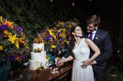 Casamento ao ar livre de Laura e Henrique: decoração rústica, alegre e multicolorida!