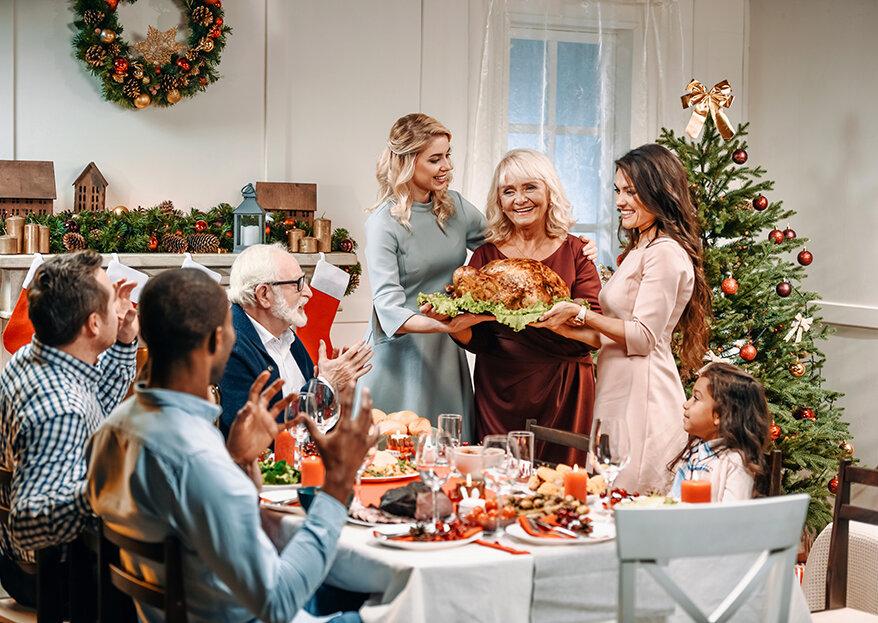 Os pais, os sogros, a família em geral e o primeiro Natal enquanto casados!