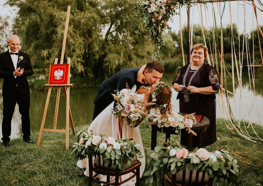 Przyjęcie w sekretnym ogrodzie w ranczu Debry, czyli ślub w plenerze Oli i Emila!