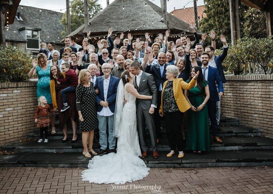 Tips voor de leukste groepsfoto's op jullie bruiloft!