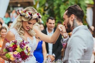 Casamento lindo na praia da atriz Camile Cappellanes com Fi Duarte da banda NXZero
