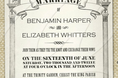 Hochzeitseinladungen im Vintage-Stil