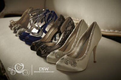 Colección de zapatos de novia inspirados en Cenicienta