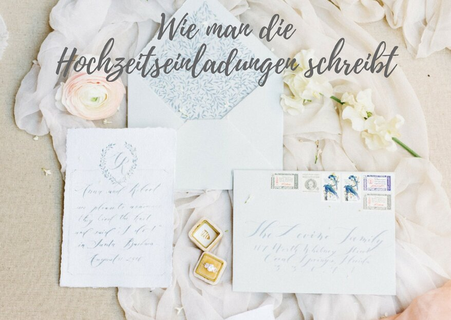 Wie man die Hochzeitseinladungen schreibt – so sehen tolle Einladungskarten aus