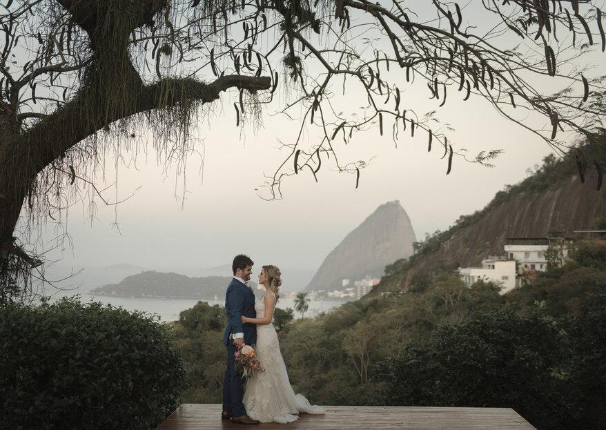 Marcela e Guilherme: casamento emocionante com vista do Rio de Janeiro