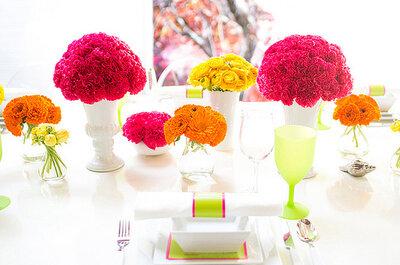 Inspiración: bodas en colores neón