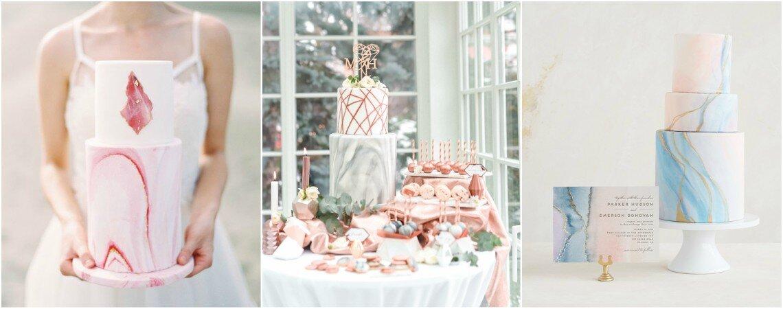 ¿Ya viste las tortas de matrimonio con efecto mármol? ¡Sorpréndete con la tendencia que está revolucionando las bodas!