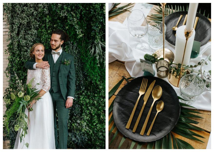 Styled Wedding Shoot: Natural Gold