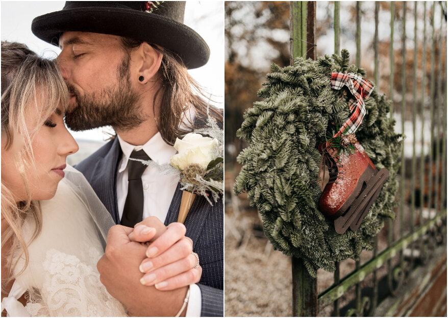 Een romantische winter wedding shoot met een vleugje bohemian!