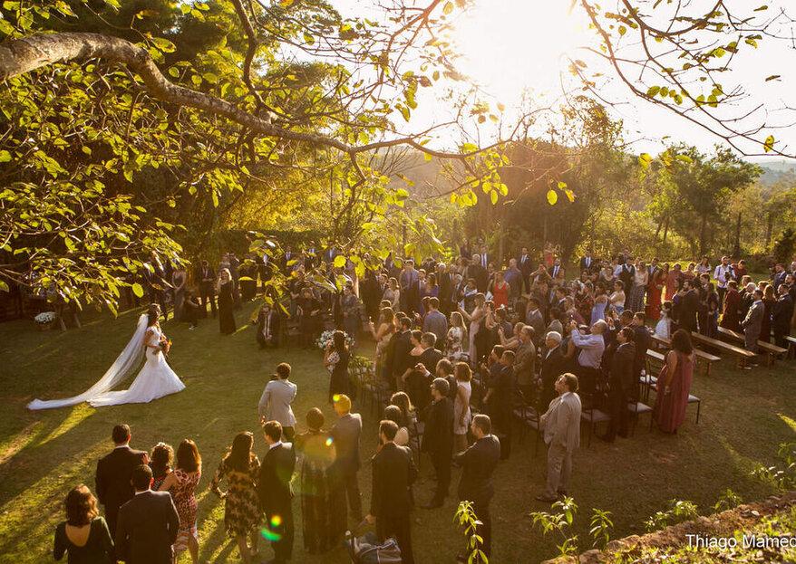 Chão de Minas: para quem sonha com uma celebração incrível em meio a cenários onde a natureza dá o tom