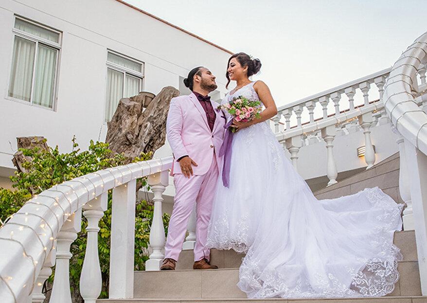 Fabiola y Sebastián: ¡amor a primera vista y una boda llena de vida y color!